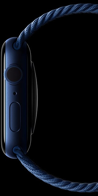 Apple Watch Series 6 colors blue case