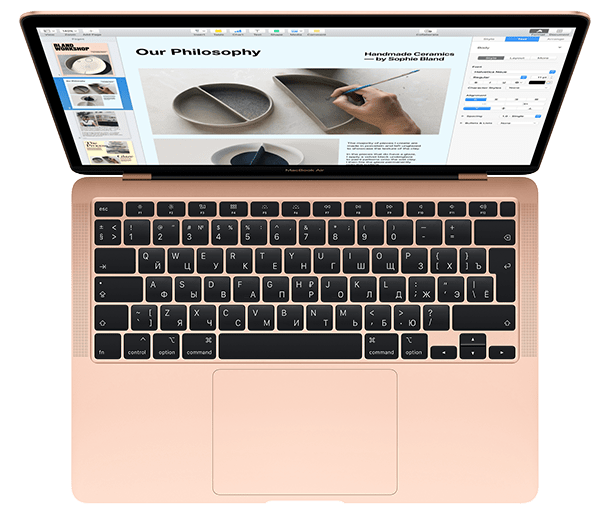 MacBook Air 2020 keyboard dim